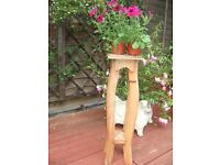 SHABBY CHIC PROJECT ?.... SMALL VINTAGE OAK JARDINIERE., ORNAMENT/ PLANT STAND