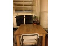 IKEA table plus two high chairs included x2