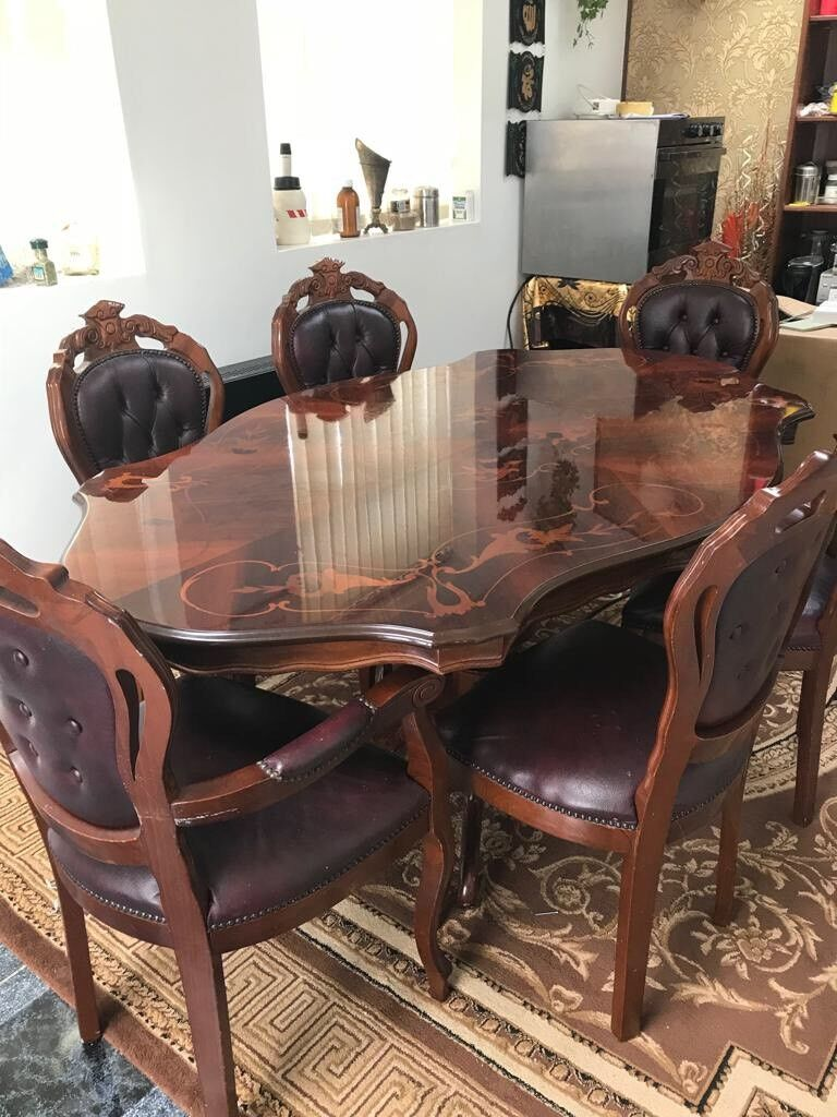 Italian 6 Chair Dining Table Grenoside South Yorkshire