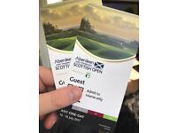 Scottish open 1 day tickets