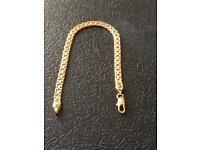 Ladies 18k gold filled bracelet hallmarked 18k gf brand new