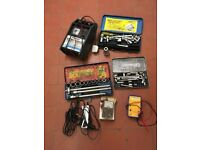 Socket sets and battery charger and volt meter