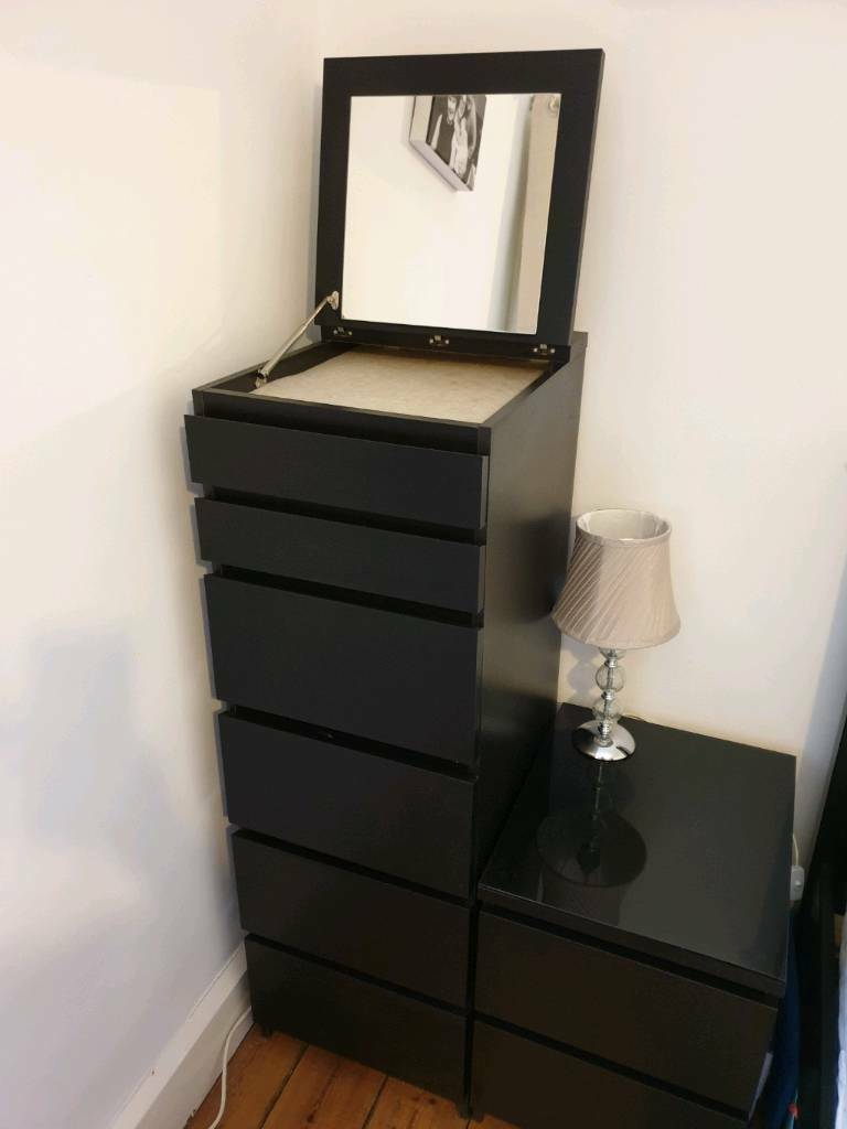 Ikea Malm 6 Drawer Tall Boy Vanity Unit With Mirror In Hook Hampshire Gumtree