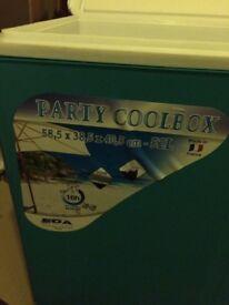 Large Party Cool Box - Blue - Massive 52 Litre - New