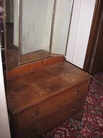 1930 dressing table with mirror.