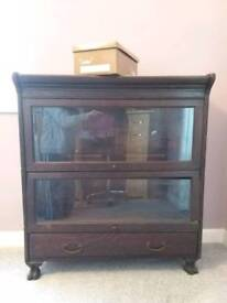 Glass Fronted Modular Cabinet, Barrister Cabinet For Repair