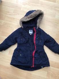 Navy Jasper Conran coat size 18/24, but comes slighly bigger