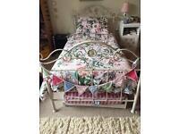 Laura Ashley cream metal single bed
