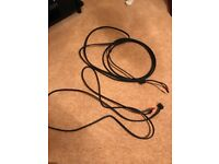 Naim NAC A5 Black Speaker Cable, Pair, Terminated, 1 x 5m, 1 x 3m
