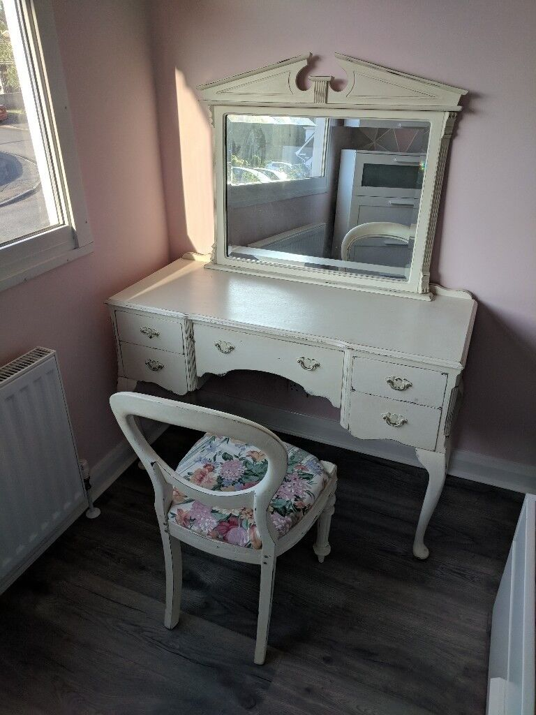 Shabby Chic Dressing Table Chair And Mirror In Lisburn County