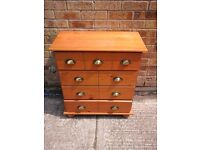 Pine chest of 4 drawers