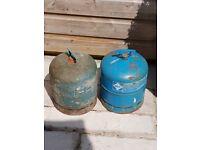 2 butane gas bottles