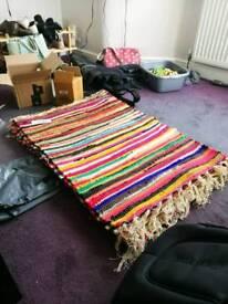 6 cotton rag rugs wedding