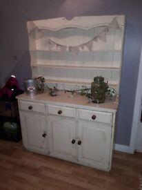 Shabby chic cream Welsh dresser