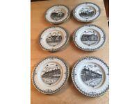 Decor Art Collection 6 18 carat gold border Plates Coulsdon Surrey Limited edition Set No. 1/200