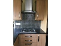 Howdens Burford Light Oak kitchen cabinet doors, end panels and cornice