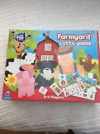 Farmyard lotto game never opened