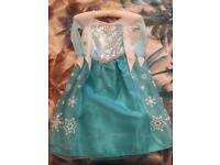 As new Elsa Frozen Dress up dress from Disney store age 4