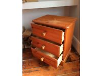Bedside drawers pine perfect for upcycling