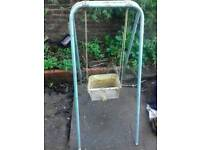 Vintage 1950-60s small size indoor swing for livingroom or shop display