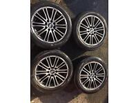 "Preowned 15"" alloy wheel and tyres x 4"