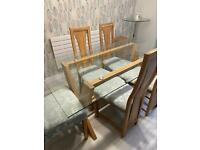 Oak Furniture land dining table and chairs
