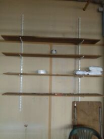 Twin Wall Brackets with shelving
