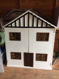 Handmade Barbie dolls house and garage