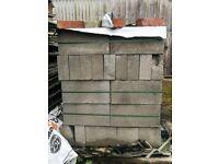 180 Breeze Blocks For Sale 80 pence each