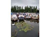 Canal boat for sale - Converted cruiser with mooring in Keynsham