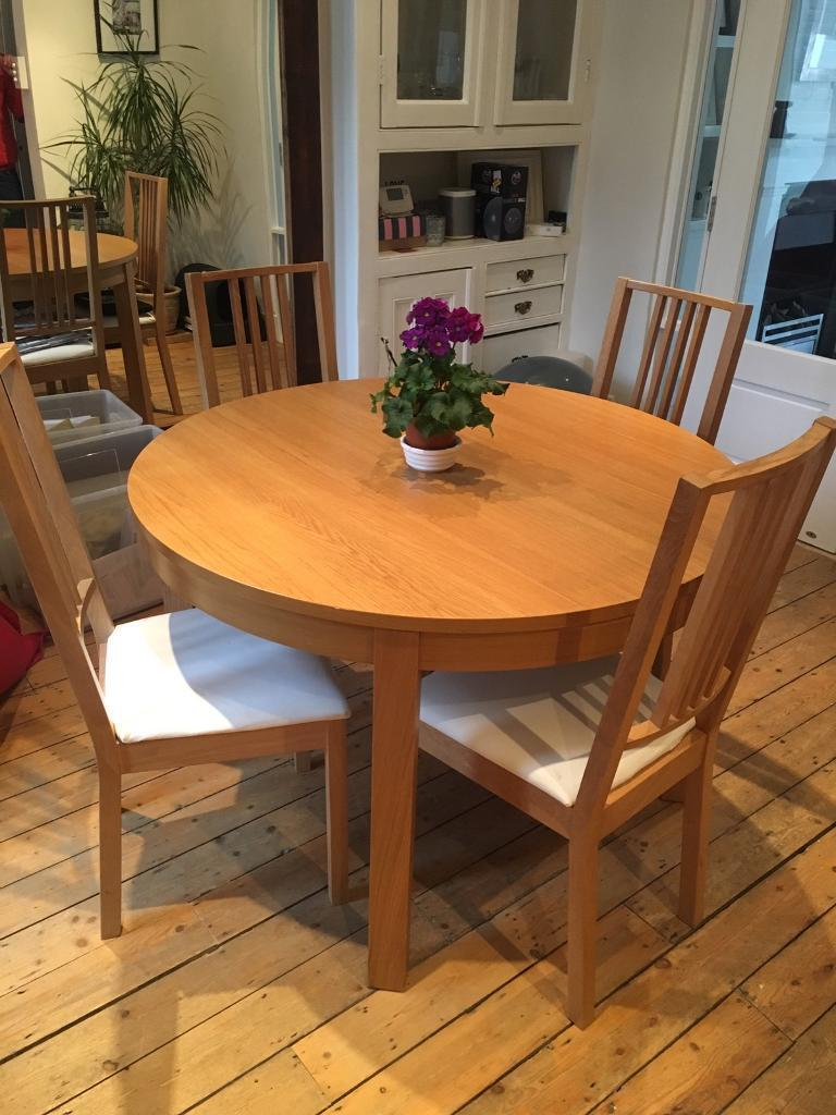 ikea bjursta extending dining table 4 chairs in richmond london gumtree. Black Bedroom Furniture Sets. Home Design Ideas