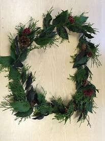 Christmas Garlands x 2 Fern, leaves, berrys and cones 1.8m