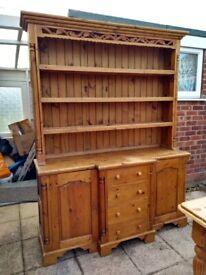 Welsh Dresser / Side board.Country Kitchen Style Light Oak