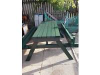 Heavy duty picnic bench made to last can deliver for a few pounds