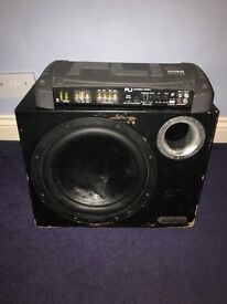 Inphase subwoofer 1400w with Fli 1000w AMP