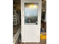 Brand New White PVCu Door 2110mm high x 930mm wide