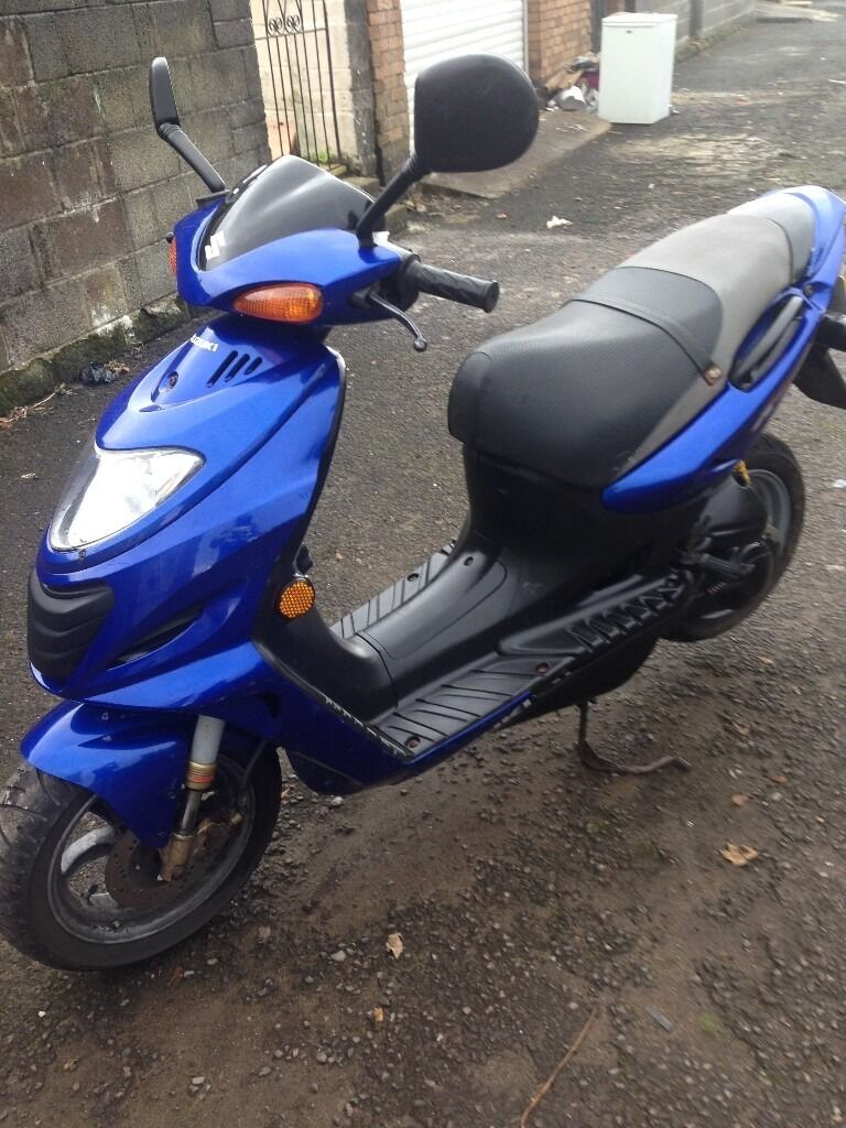 Suzuki Katana 50cc 2 Stroke Scooter Very Clean Long Mot Read Ad In