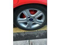 ford fiesta alloy wheels with new tyres 195-50-15
