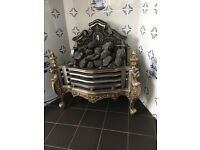 Modern electric fireplace in stunning antique style, manufactured by Gallery, UK