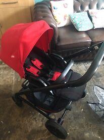 Joie chrome full travel system pram pushchair stroller