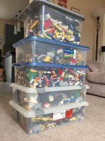 25kg boxes of Lego