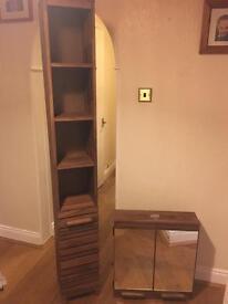 Bathroom Cabinet and tall shelf unit