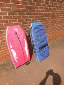 3 body boards and carry bag