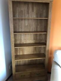 Solid Oak tall Bookcase