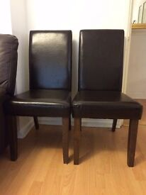 Great condition BROWN LEATHER CHAIRS! x2