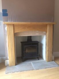 Modern wood fireplace surround - Excellent condition