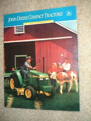 John Deere Compact Tractors Under 40 Hp. Brochure 1989