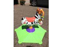 Fisher-Price K0317 Bounce and Spin Zebra
