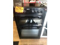 BEKO 60CM CEROMIC TOP ELECTRIC COOKER IN BLACK