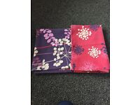 Red and purple flower single bedding with pillowcases
